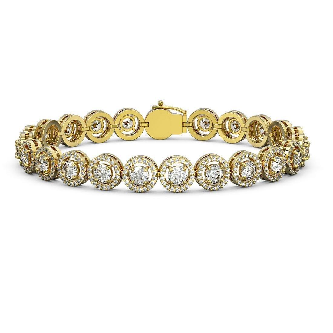 10.39 ctw Diamond Bracelet 18K Yellow Gold - REF-787Y8X