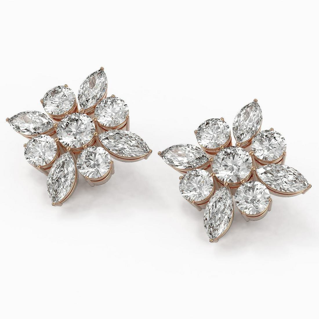 9.86 ctw Marquise Cut Diamond Designer Earrings 18K