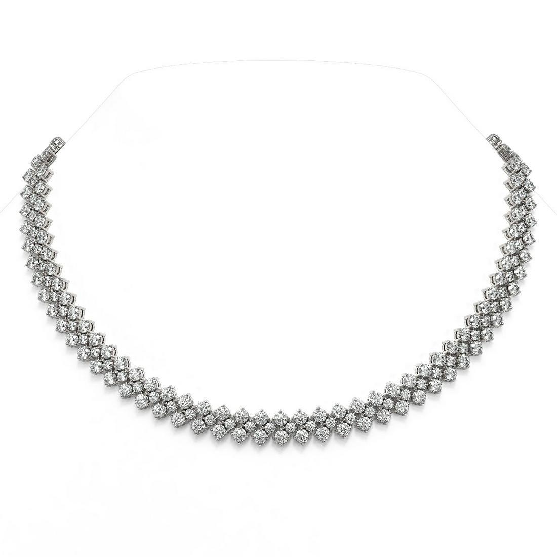 47.5 ctw Diamond Designer Necklace 18K White Gold -