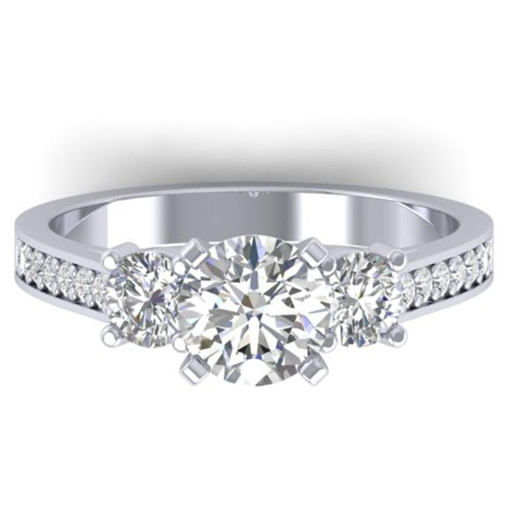 1.75 ctw Certified VS/SI Diamond 3 Stone Ring 18k White