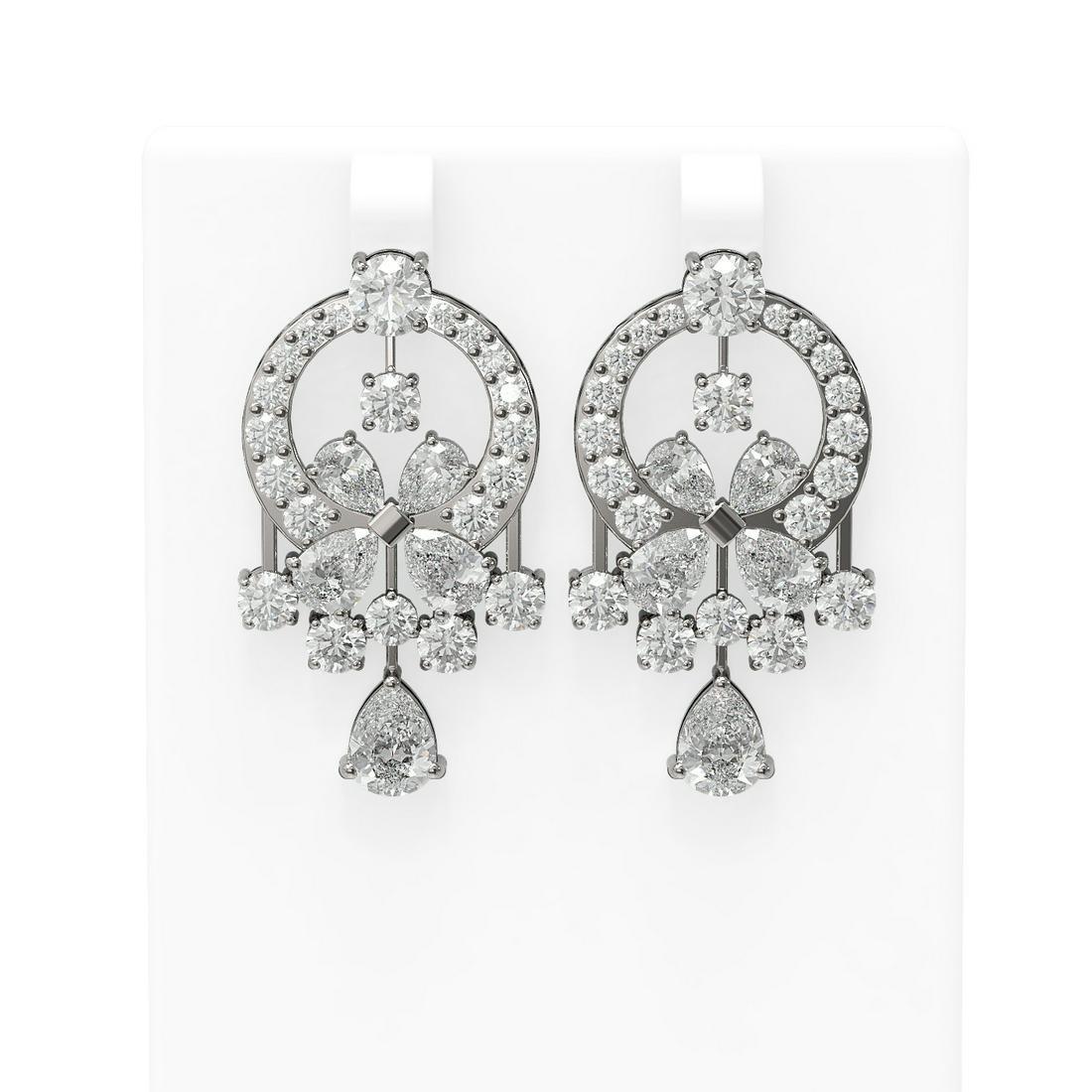 14 ctw Diamond Earrings 18K White Gold - REF-2519Y6X
