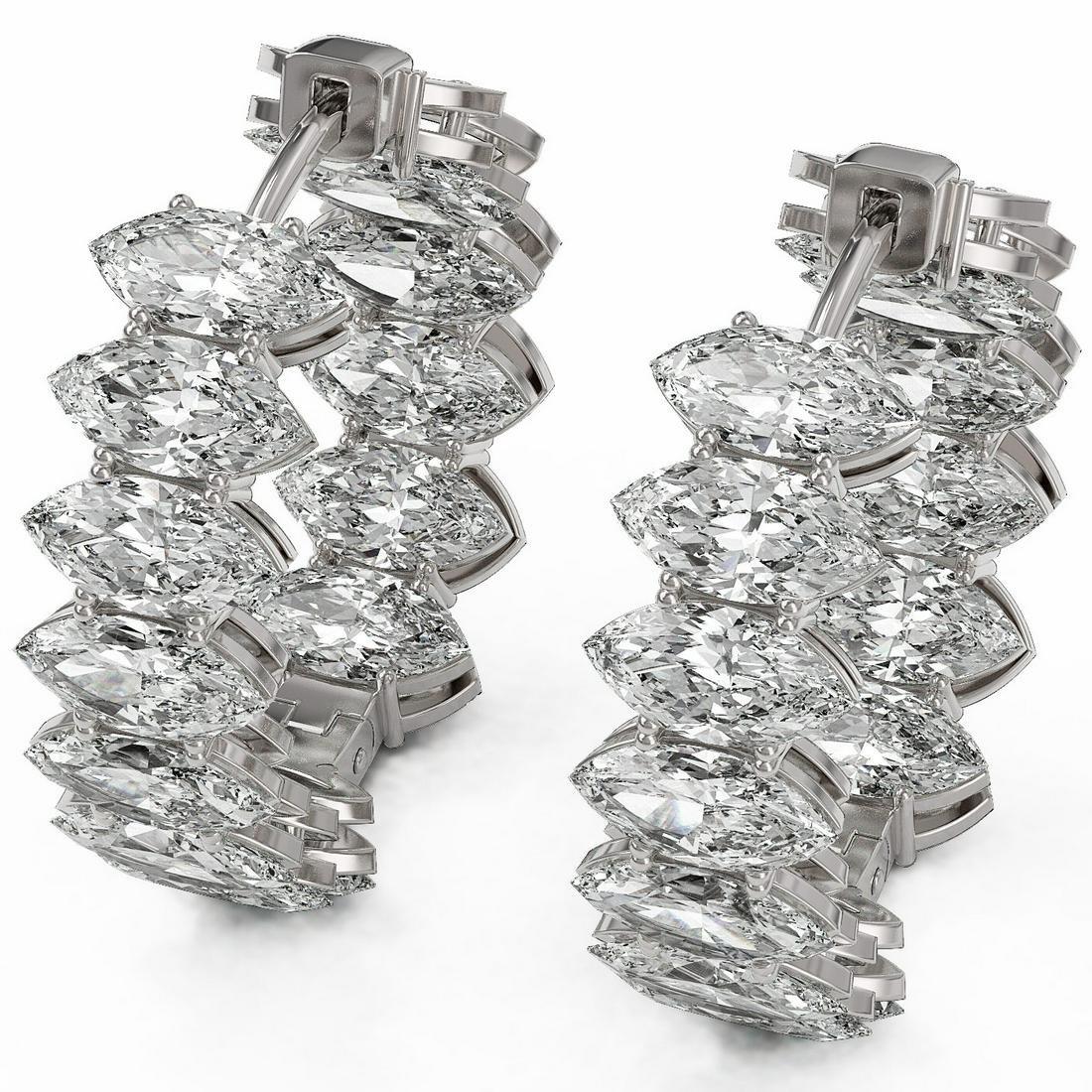 14.28 ctw Marquise Cut Diamond Earrings 18K White Gold