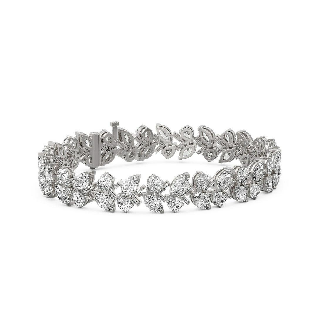 24 ctw Marquise & Pear Cut Diamond Bracelet 18K White