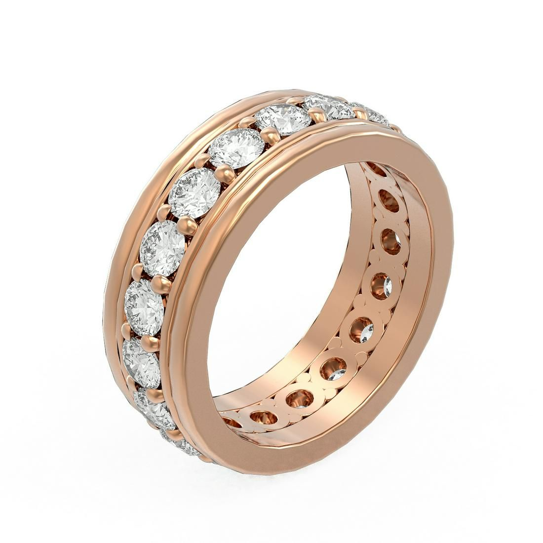 2.75 ctw Diamond Ladie's Ring 18K Rose Gold -
