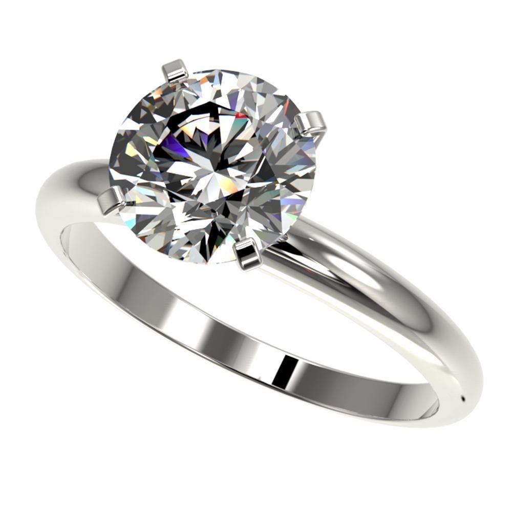2.50 ctw Certified Diamond Engagement Ring 10K White