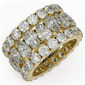 1464 ctw Pear Cut Diamond Eternity Ring 18K Yellow