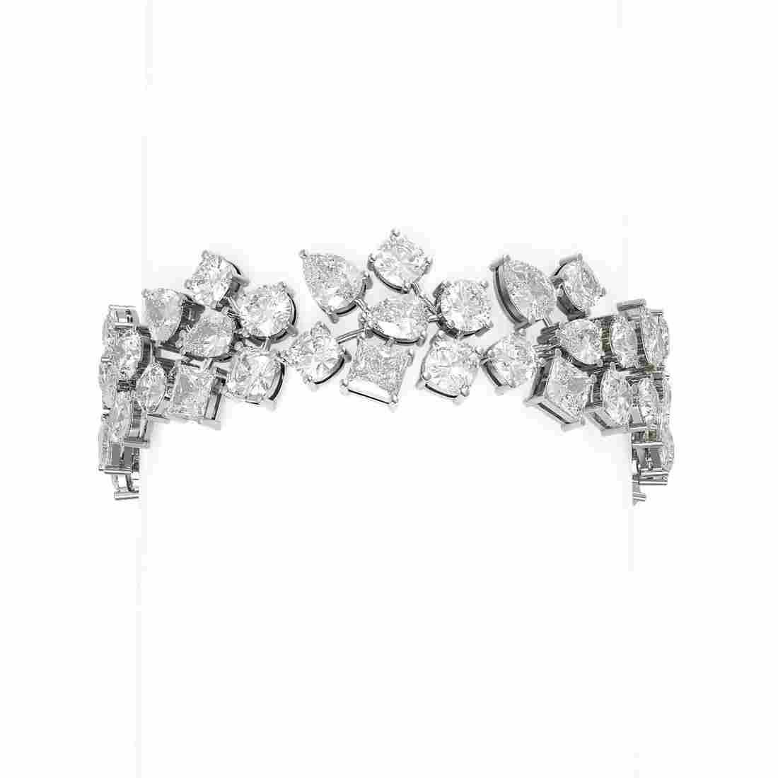 33.39 ctw Diamond Bacelet 18K White Gold - REF-7677K3Y