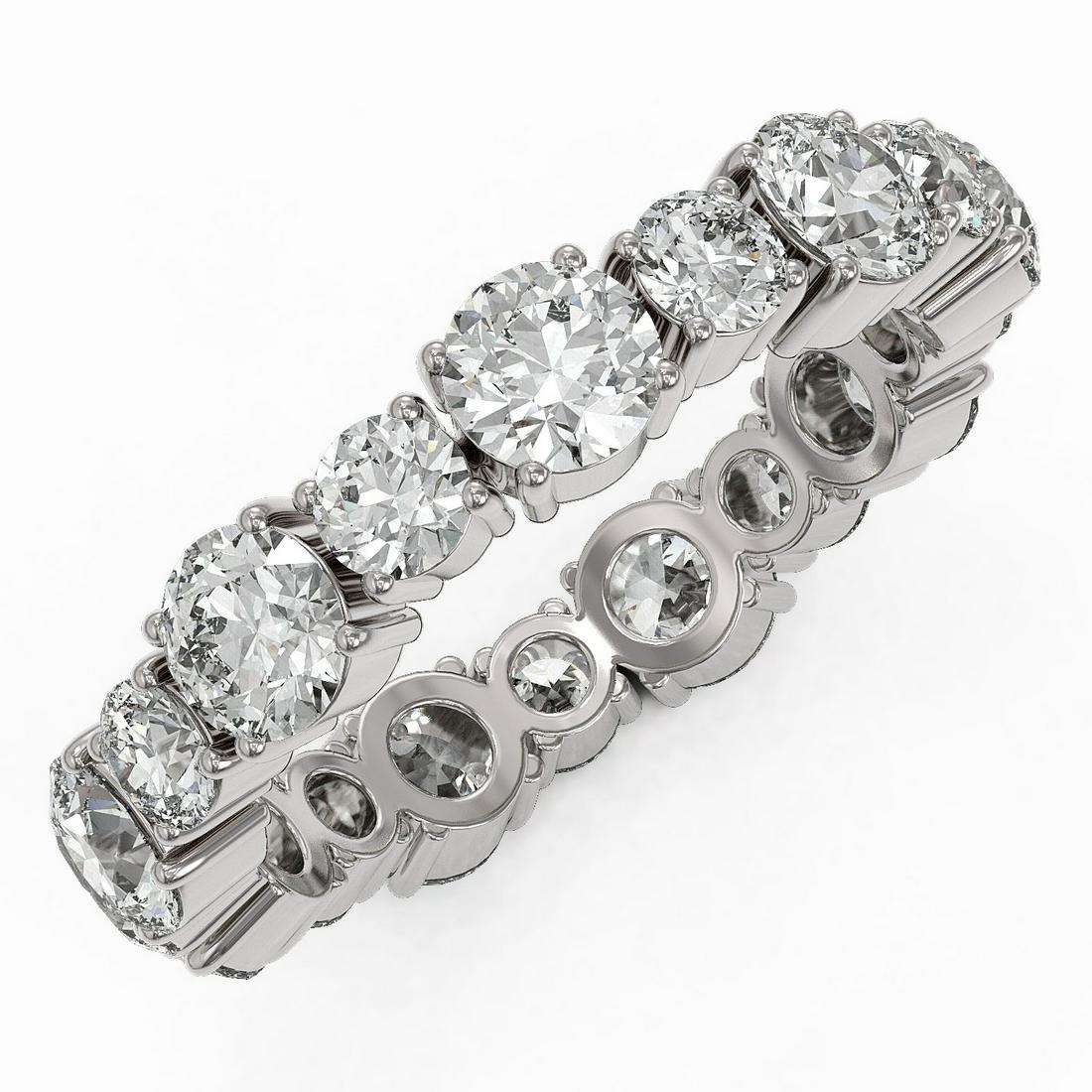 3.51 ctw Diamond Designer Eternity Ring 18K White Gold
