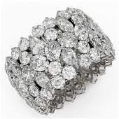 1566 ctw Mixed Cut Diamond Eternity Ring 18K White