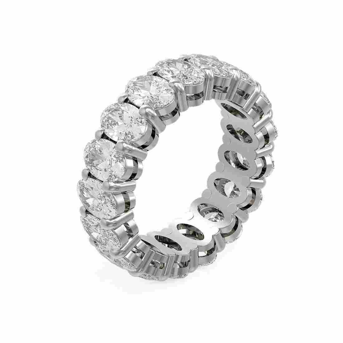 8.84 ctw Oval Diamond Ring 18K White Gold - REF-1556F8M