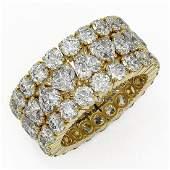 10.4 ctw Heart Diamond Designer Eternity Ring 18K
