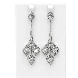 7.61 ctw Diamond Earrings 18K White Gold - REF-851H9R