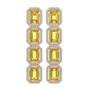 18.64 ctw Fancy Citrine & Diamond Micro Pave Halo