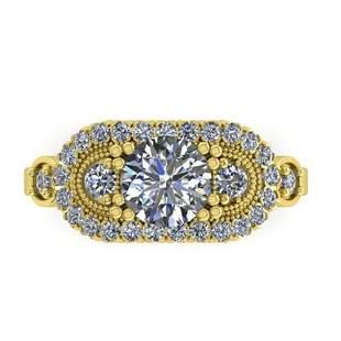 1.75 ctw Solitaire VS/SI Diamond Ring Art Deco 18k