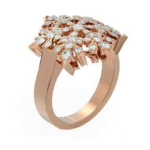 1.28 ctw Diamond Ring 18K Rose Gold - REF-138H8R