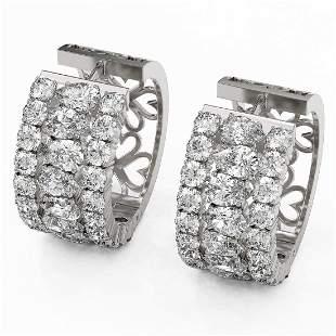 13.36 ctw Pear Cut Diamond Earrings 18K White Gold -