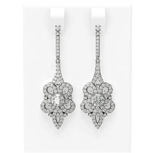 2.74 ctw Diamond Earrings 18K White Gold - REF-344G4W