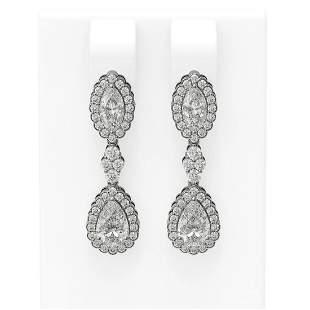 2.22 ctw Diamond Earrings 18K White Gold - REF-319A6N