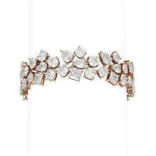 33.39 ctw Diamond Bacelet 18K Rose Gold - REF-7677X3A