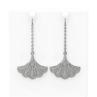 4.33 ctw Diamond Earrings 18K White Gold - REF-399Y3X