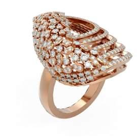 3 ctw Diamond Ring 18K Rose Gold - REF-312K2Y