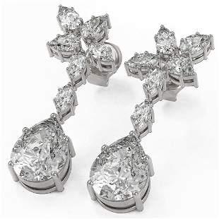 5 ctw Pear & Marquise Cut Diamond Earrings 18K White