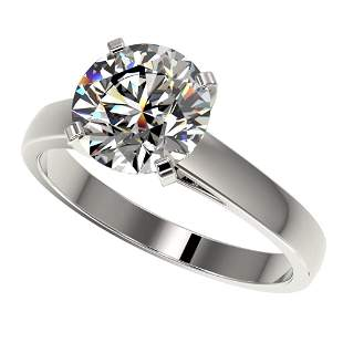 2.55 ctw Certified Diamond Solitaire Ring 10K White
