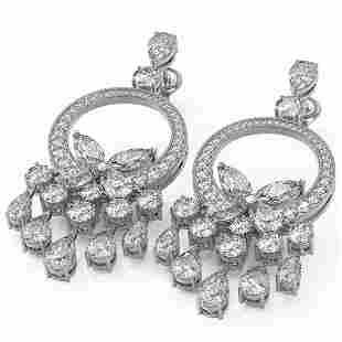 11.7 ctw Pear & Marquise Cut Diamond Earrings 18K White