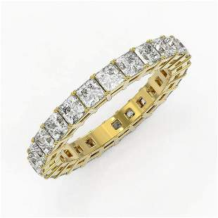 3.5 ctw Princess Cut Diamond Eternity Ring 18K Yellow