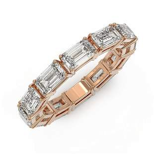3.24 ctw Emerald Cut Diamond Designer Ring 18K Rose