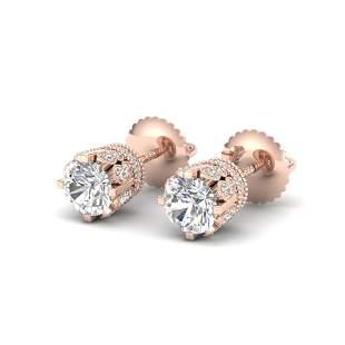 1.75 ctw VS/SI Diamond Solitaire Art Deco Stud Earrings