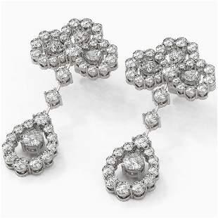 6.5 ctw Pear Cut Diamond Designer Earrings 18K White