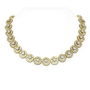 29 ctw Diamond Necklace 18K Yellow Gold - REF-3224H6R