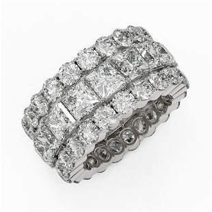 13.62 ctw Princess Cut Diamond Eternity Ring 18K White