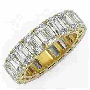 9.18 ctw Emerald Cut Diamond Eternity Ring 18K Yellow
