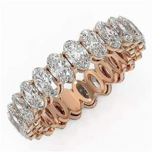 5.98 ctw Oval Cut Diamond Eternity Ring 18K Rose Gold -