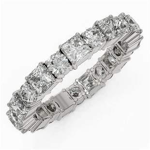 4.29 ctw Princess Cut Diamond Eternity Ring 18K White