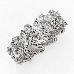 7.04 ctw Marquise & Pear Cut Diamond Eternity Ring 18K