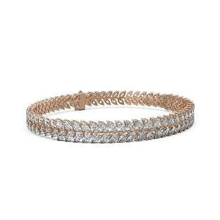 23 ctw Marquise Diamond Designer Bracelet 18K Rose Gold