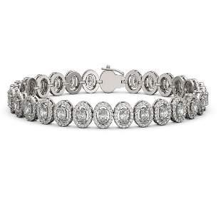 12.2 ctw Oval Cut Diamond Micro Pave Bracelet 18K White