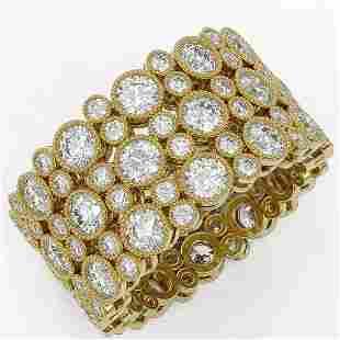 6.3 ctw Diamond Designer Ring 18K Yellow Gold -