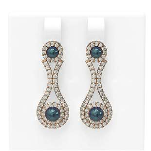 2.03 ctw Diamond & Pearl Earrings 18K Rose Gold -