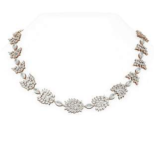 49 ctw Marquise Diamond Necklace 18K Rose Gold -