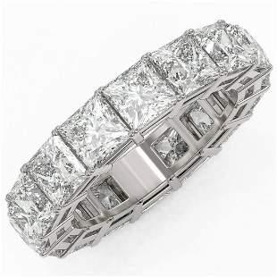 8.16 ctw Princess Cut Diamond Eternity Ring 18K White