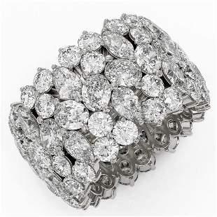 15.66 ctw Mixed Cut Diamond Eternity Ring 18K White