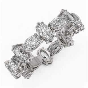 4.16 ctw Marquise Cut Diamond Eternity Ring 18K White