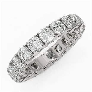 4.94 ctw Cushion Cut Diamond Eternity Ring 18K White