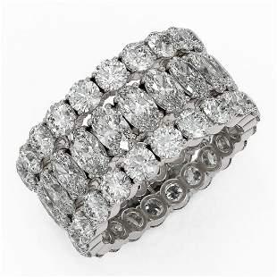 10.92 ctw Oval Cut Diamond Eternity Ring 18K White Gold