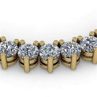 68 ctw 3 Prong Diamond Riviera Necklace 18K Yellow Gold
