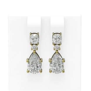 4.75 ctw Diamond Earrings 18K Yellow Gold - REF-1136H3R